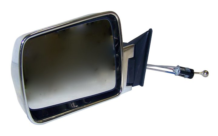 Jeep Cherokee XJ Manual Left Side Mirror, Chrome