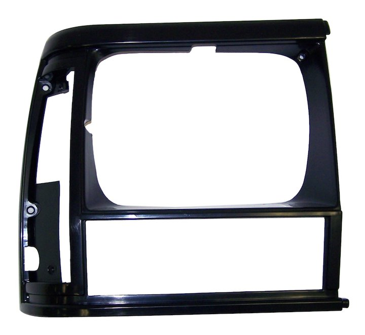 Headlamp Bezel, Right, Flat Black, 93-96 Cherokee XJ