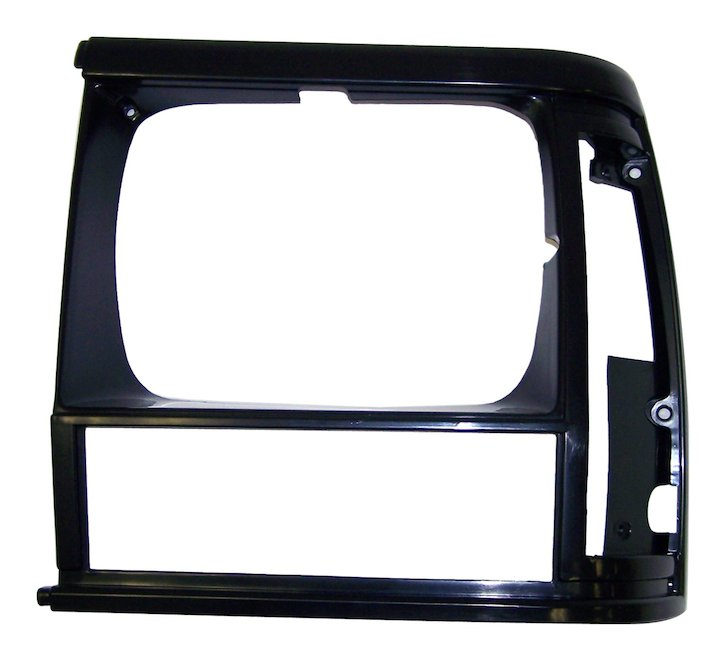 Headlamp Bezel, Left, Flat Black, 93-96 Cherokee XJ