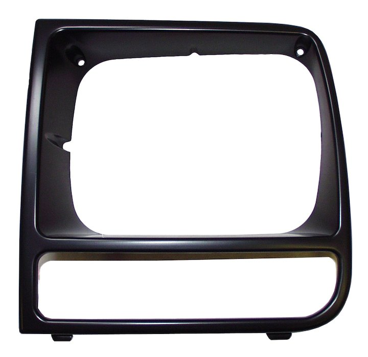 Headlamp Bezel, Left, Black, 97-01 Cherokee XJ