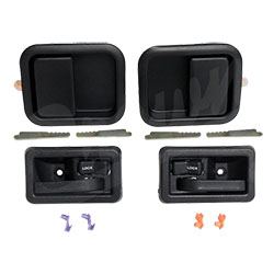 Jeep Full Steel Door Handle Kit, Black, CJ YJ TJ