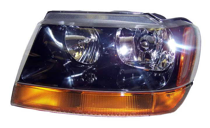 Head Lamp, Left, 99-04 Grand Cherokee WJ