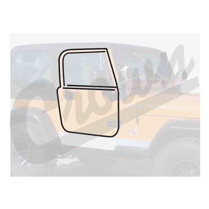 Jeep Full Steel Door Seal Kit, YJ CJ7 CJ8
