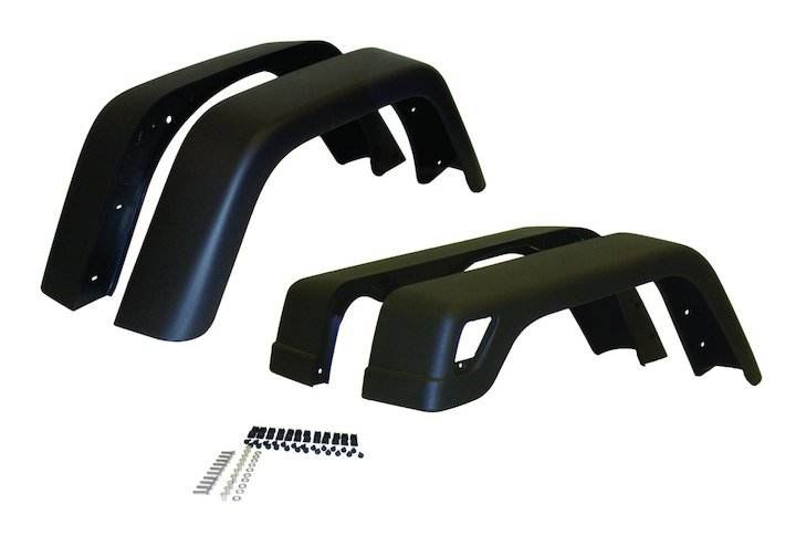 7 inch Wide Fender Flare Kit, 4 Piece, 97-06 Wranglers