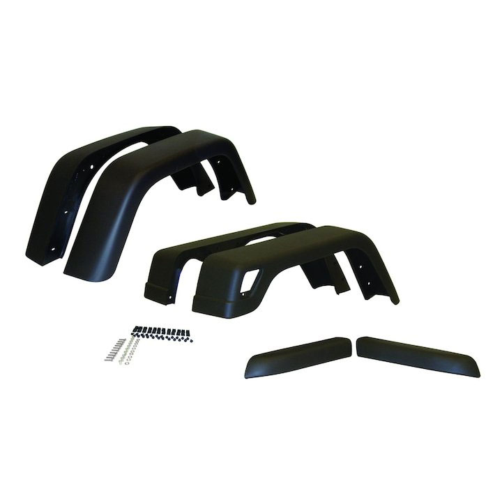 7 inch Wide Fender Flare Kit, 6 Piece, 97-06 Wranglers