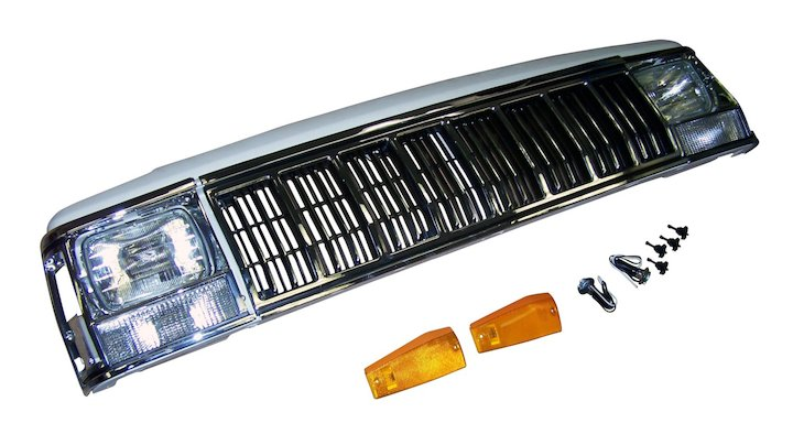 Crown 52000185K - Front Bumper Kit 84-96 Cherokee XJ