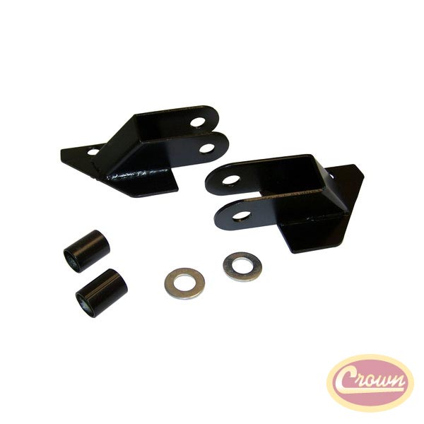 Mirror Relocation Brackets 87-95 Wranglers, Black