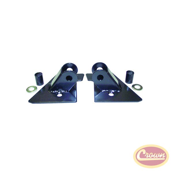 Mirror Relocation Brackets 97-02 Wranglers, Black