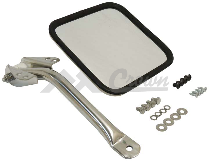 Mirror and Arm Kit (Stainless-Left)