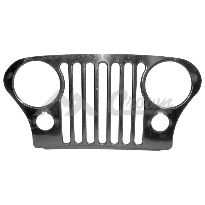 Jeep CJ Grille Overlay 76-86 Stainless Steel