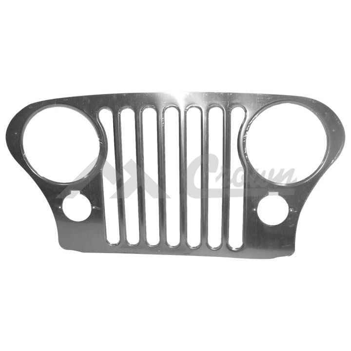 Jeep CJ Grille Overlay with Bezels 76-86 Stainless Steel