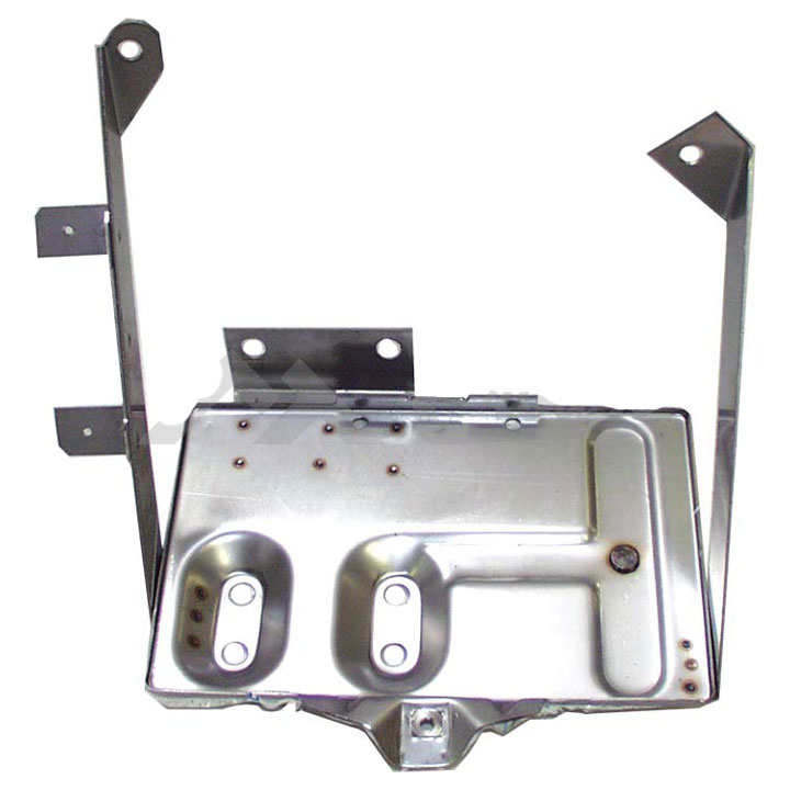 Battery Tray Kit, Stainless, 76-86 Jeep CJ