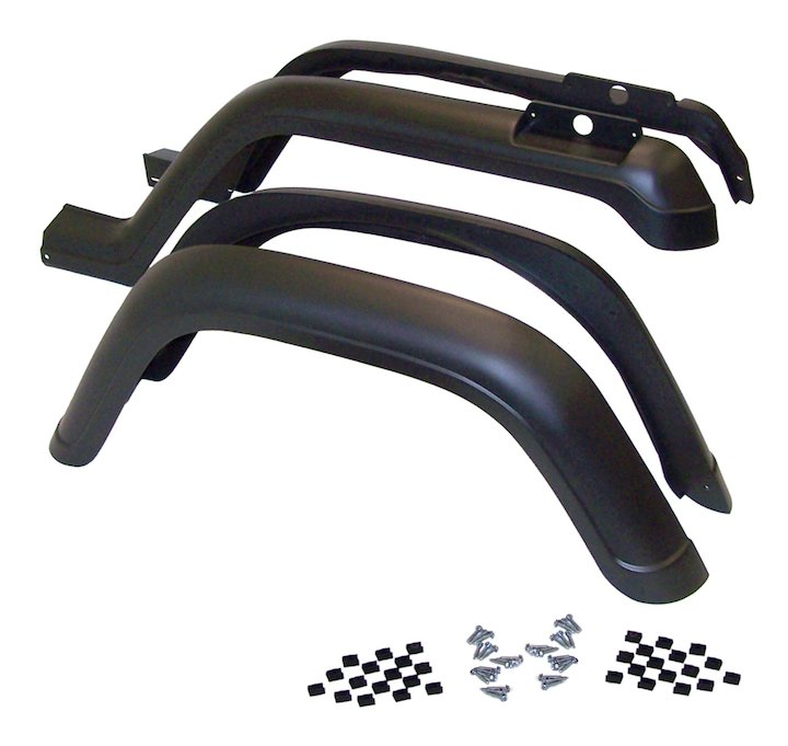 Fender Flare Kit, 4 Piece, 87-95 Wranglers