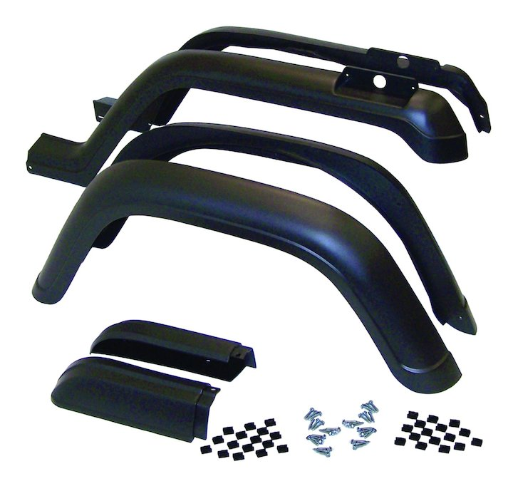 Fender Flare Kit, 6 Piece, 87-95 Wranglers