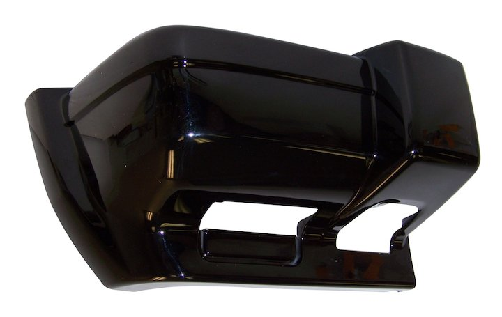 Front Bumper Cap, Right Gloss Black 97-01 Cherokee