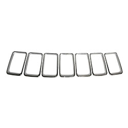 Jeep WK Cherokee Chrome Grille Trim Ring Kit