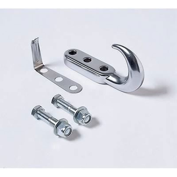Tow Hook Kit 42-95 Jeep Wrangler, Chrome
