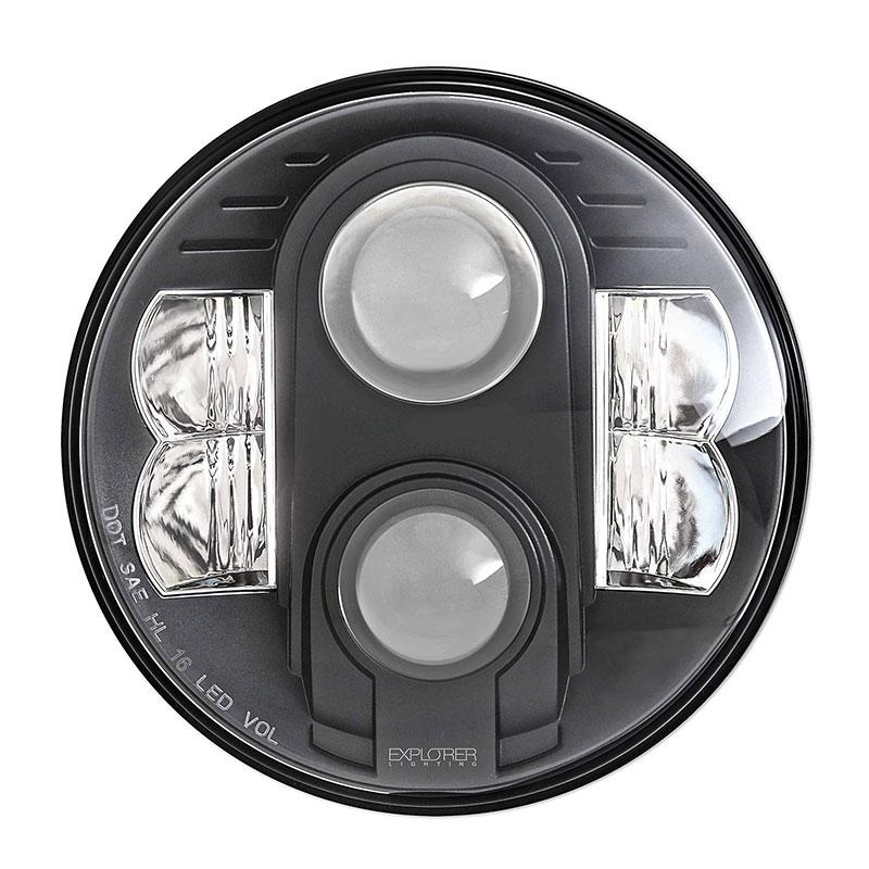 Wrangler Jk 7 Inch Led Headlamp Pair Pro Comp 76402p