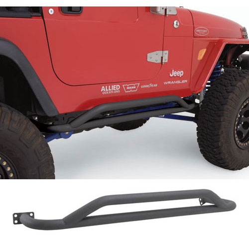 Smittybilt SRC Rocker Guards 2004-06 Wranglers Unlimited