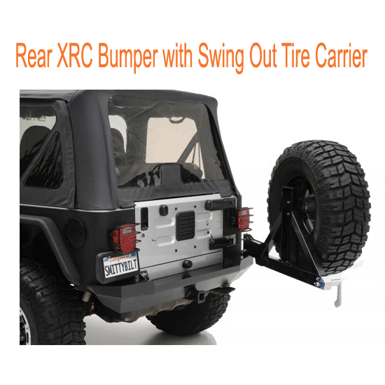 Smittybilt Rear XRC Bumper with Swing Out Tire Carrier