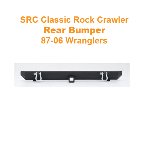 SRC Rock Crawler Rear Bumper with D-Rings 87-06 Wranglers