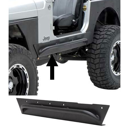Smittybilt XRC Rock Sliders with Side Step 76-86 Jeep CJ7
