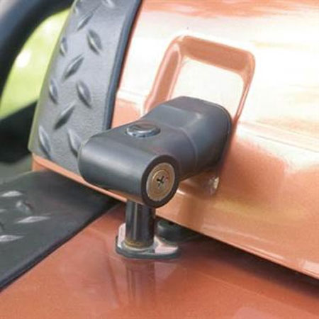 Smittybilt Locking Hood Latches 97-06 Wranglers Black