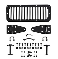 Jeep CJ7 CJ8 Wrangler YJ Black Hood Kit