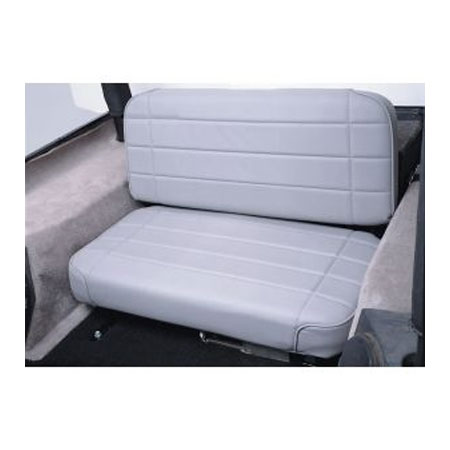 Standard Rear Seat 55-95 Jeep CJ Wrangler Grey Denim