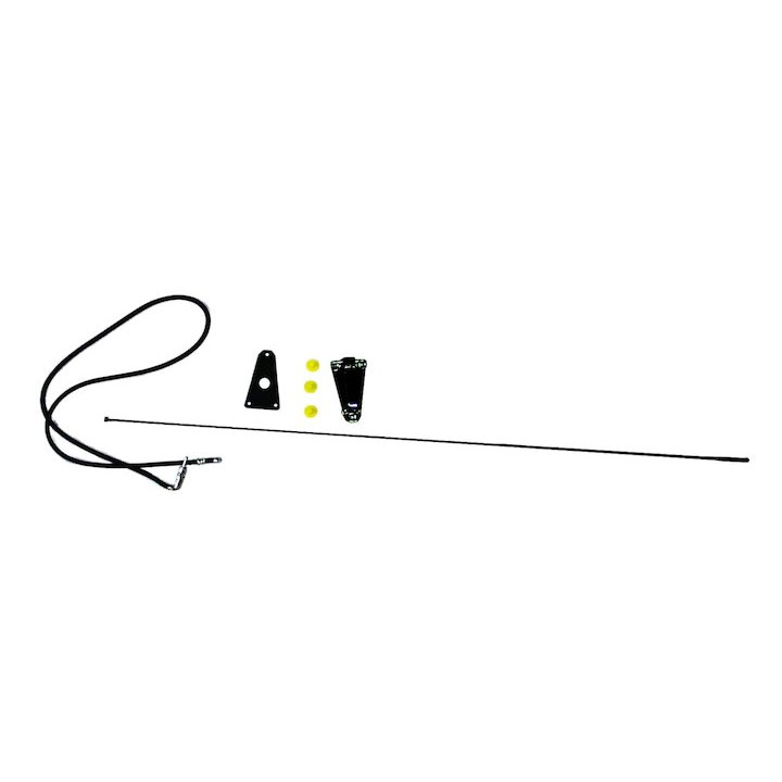 Black Antenna Kit 75-86 CJ, 87-95 Wranglers
