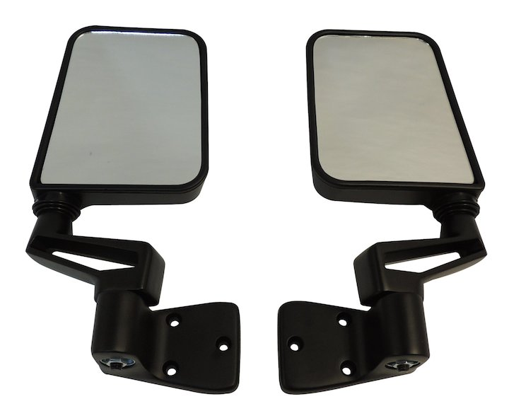 Door Mirror Kit, Black, 87-02 Wranglers