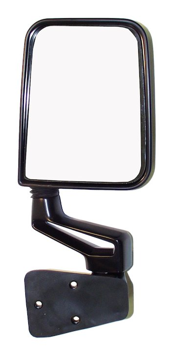 Right Side Mirror and Arm, Black, 87-02 Wranglers