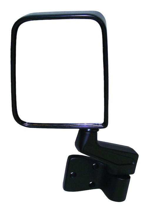Left Side Mirror and Arm, Black, 87-02 Wranglers
