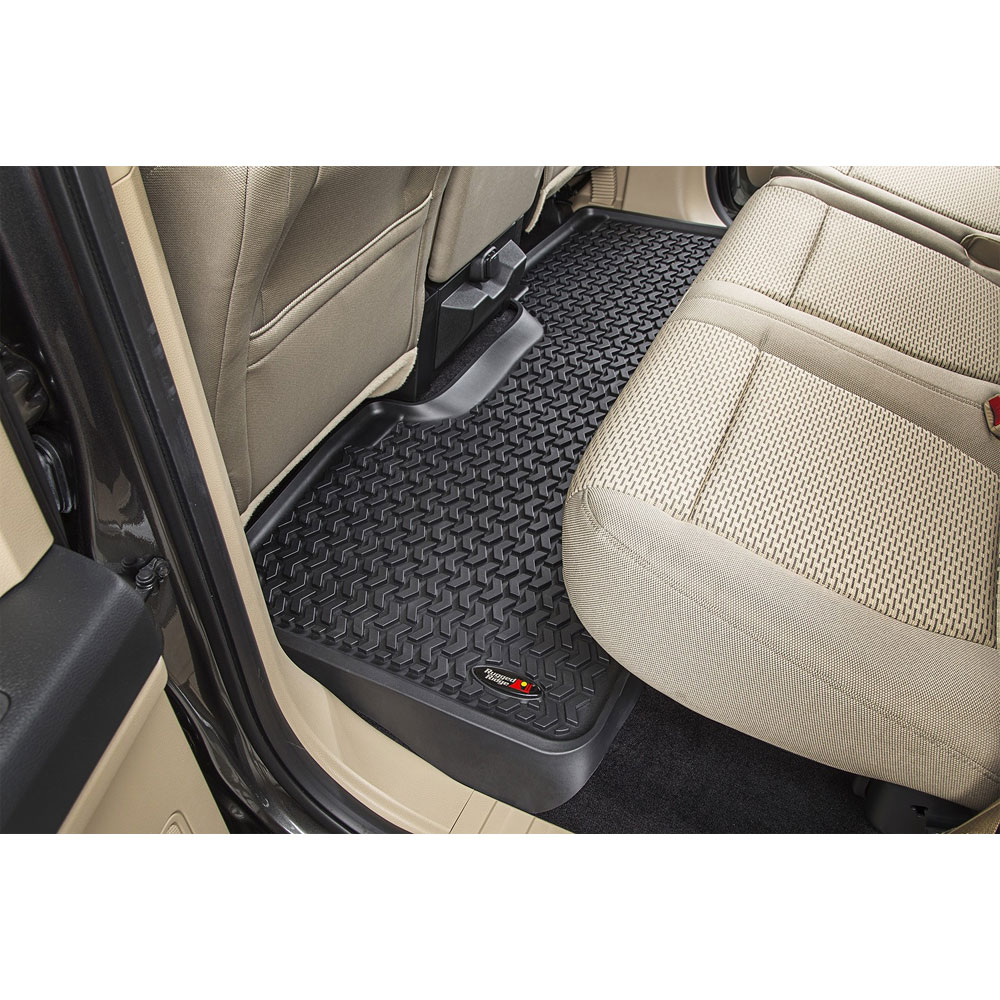 All Terrain Floor Liner, Rear, Black, 15-16 Ford F-150 Crew Cab