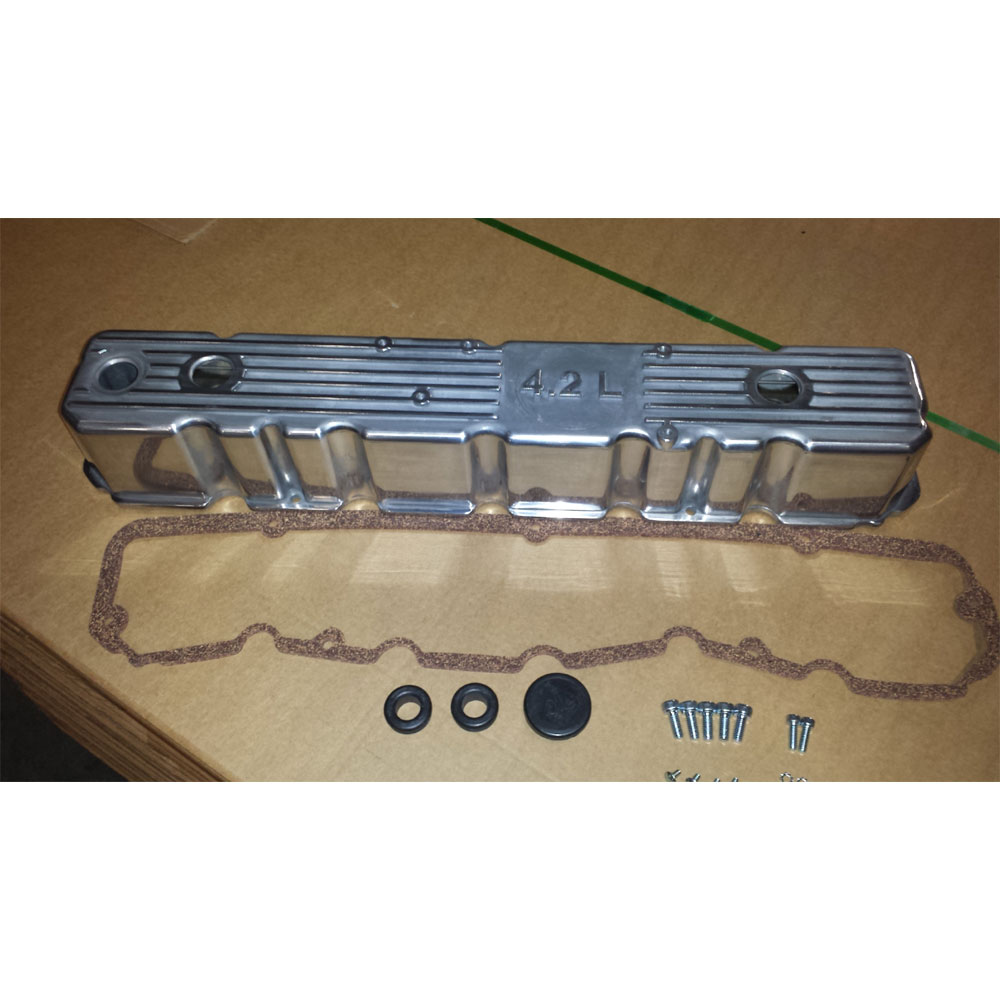 4.2L Polished Aluminum Engine Valve Cover