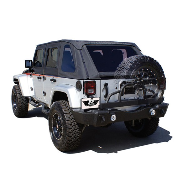 Rear Recovery Bumper with Swing Away Tire Carrier, Textured Black, 07-15 Wranglers