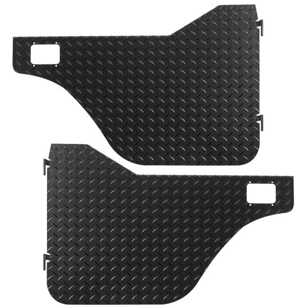 Diamond Plate Half Doors, Jeep CJ5 1976-83
