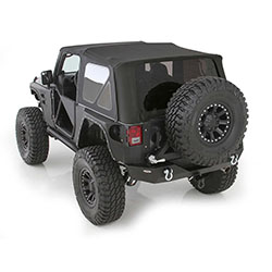 2007-09 Wrangler JK 2 Door Soft Top Tinted Windows