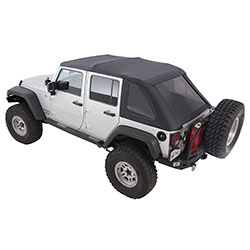Smittybilt Bowless Combo Top Kit, 2007-18 Wrangler 2 Doors