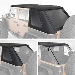Smittybilt Bowless Combo Top Kit, 2007-18 Wrangler 4 Doors