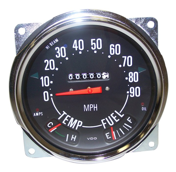 Speedometer Assembly 0-90 Mph, 55-79 Jeep CJ
