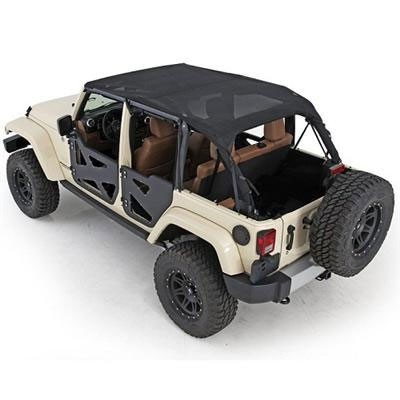 Extended Top, Black Mesh, 07-09 Wrangler 4 Door
