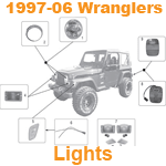 1997-06 Wrangler Lights