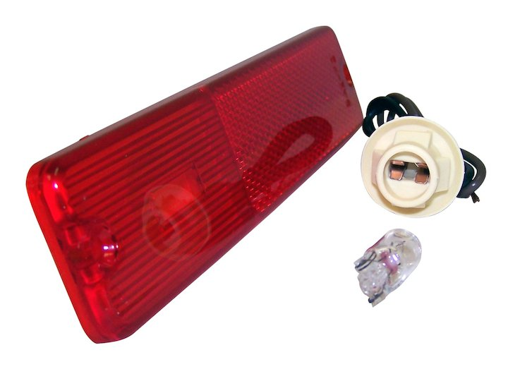 Front Side Marker Kit, Red, 72-86 Jeep CJ