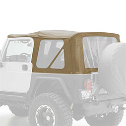 Jeep Wrangler TJ Replacement Soft Top Tinted Windows, Denim Spice