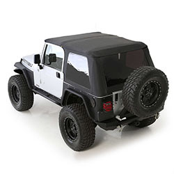 Bowless Combo Soft Top with Tinted Windows, 97-06 Wranglers