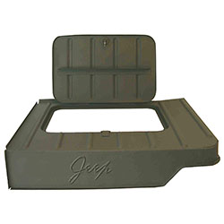 Tool Compartment With Jeep Logo 46-75 CJ2A CJ3A CJ3B CJ5