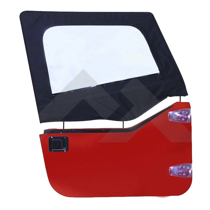 Upper Door Skins, Black Denim, 87-95 Wrangler YJ