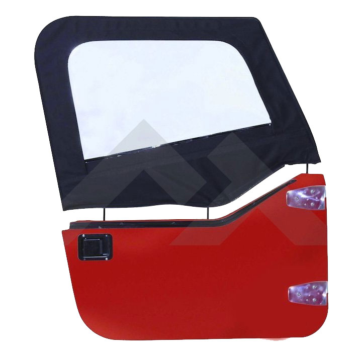 Upper Door Skins, Black Diamond, 97-06 Wranglers