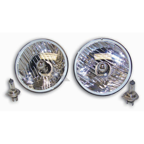 7 inch Round Halogen Lamp Conversion Kit 55-86 Jeep CJ